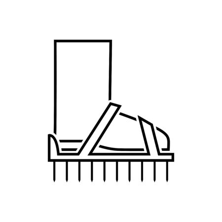 Spiked Aerating Shoes icon Illustration