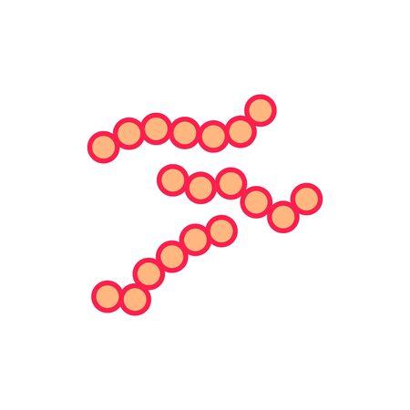 streptococcus icon, vector Stock Vector - 127851907
