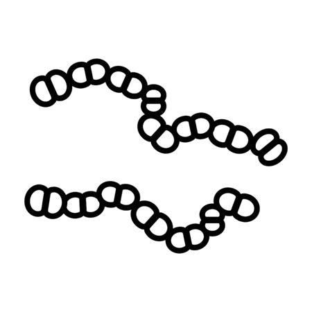 streptococcus icon, vector