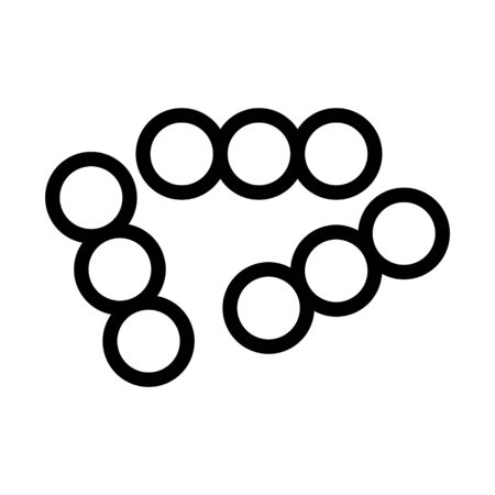 lactococcus icon, vector Иллюстрация