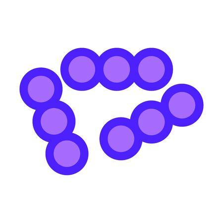 lactococcus icon, vector Ilustração