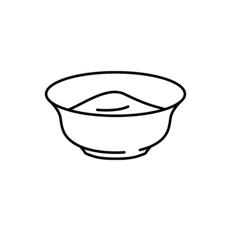 Yogurt with spoon icon Иллюстрация