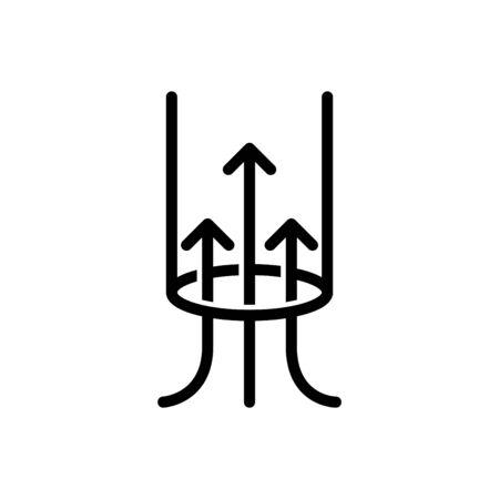 suction icon, vector Illustration