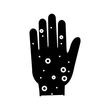 Rash hand icon.