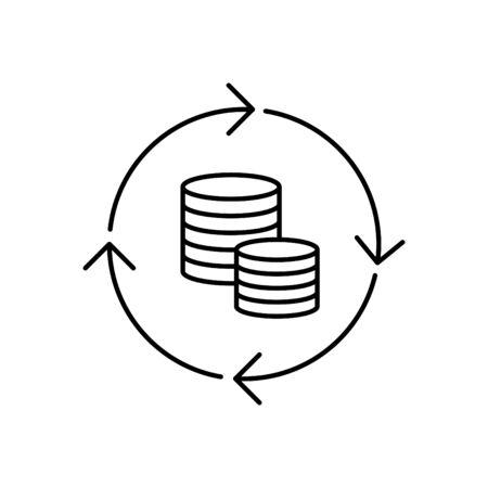 Icône de chiffre d'affaires de l'argent Vecteurs