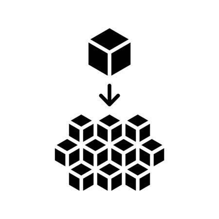 Icono de microservicios. vector Ilustración de vector