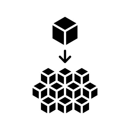 Microservices icon. vector