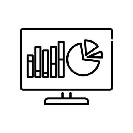Analytics icon, vector