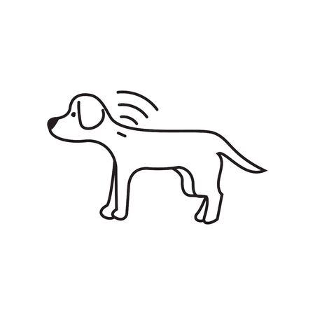 Dog microchip icon