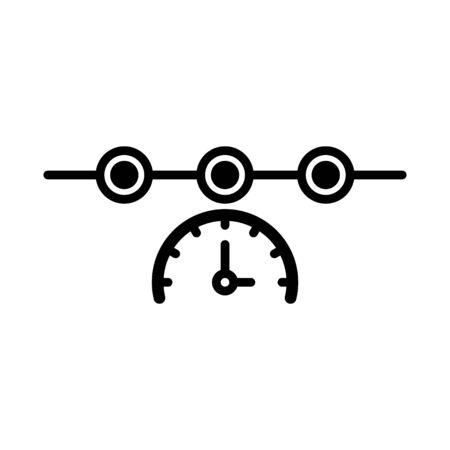 Timeline Icon, vector Ilustração