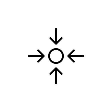 Concentration icon, vector