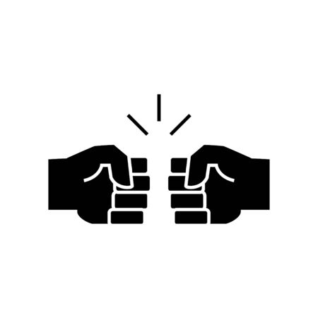 Fist Bump icon - vector