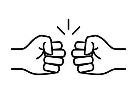 Fist Bump icon - vector