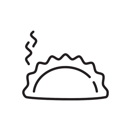 Dumpling icon, vector Illustration