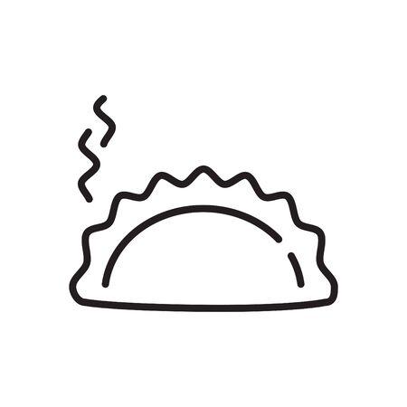 Dumpling icon, vector Illustration
