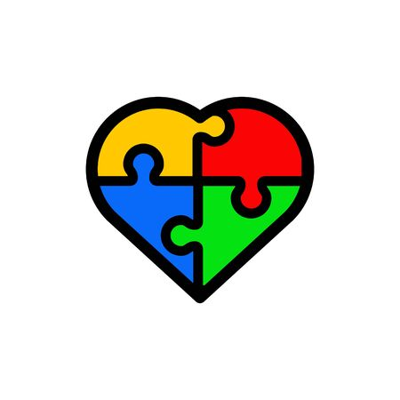 Autism icon, vector Ilustracje wektorowe