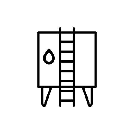 Water tank icon Illustration