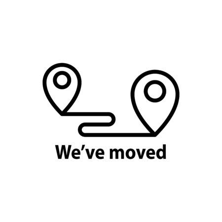 We've moved icon, vector