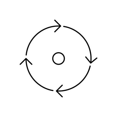 icono de coherencia, vector