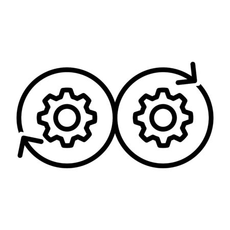 DEVOPS icon, Vector