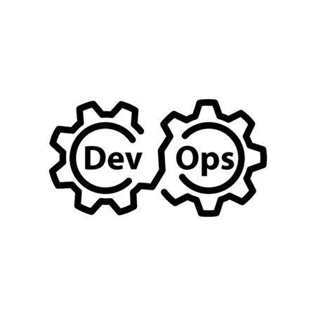DEVOPS icon, Vector