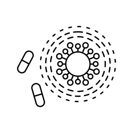 Antibiotic resistance icon