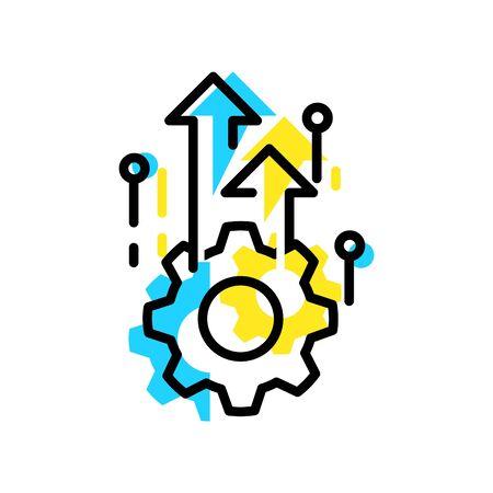 Icono de excelencia operativa Ilustración de vector