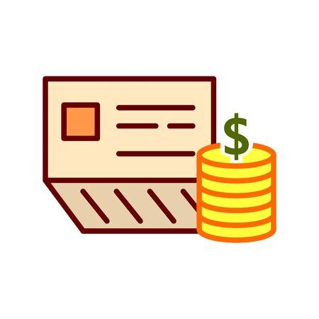 bankbook icon, vector Ilustração