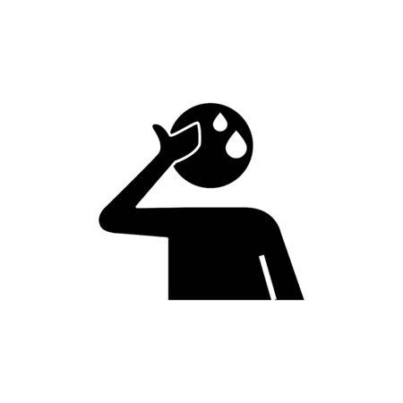 Sweat icon, vector illustration