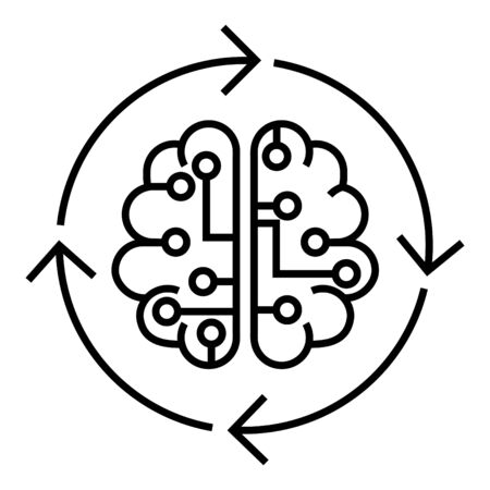 Artificial mind icon Ilustração