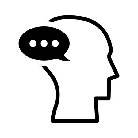 Talk icon, vector Illustration