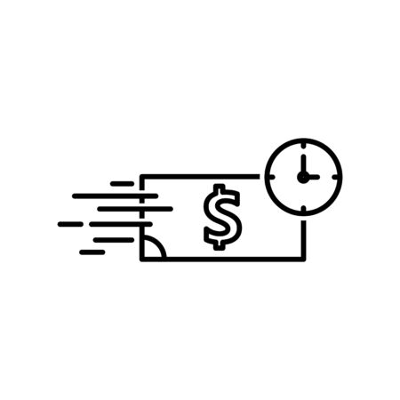 Quick loan icon Illustration