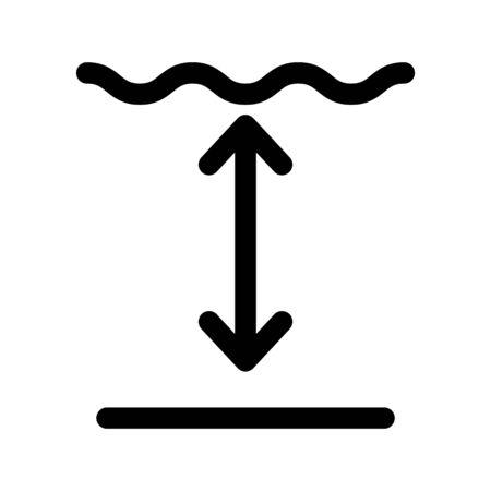 Tiefensymbol, Vektorillustration