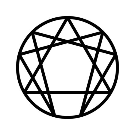 Enneagram icon, vector illustration