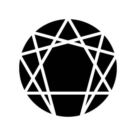 Enneagram icon, vector illustration Stockfoto - 127606759