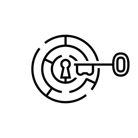 maze with key icon
