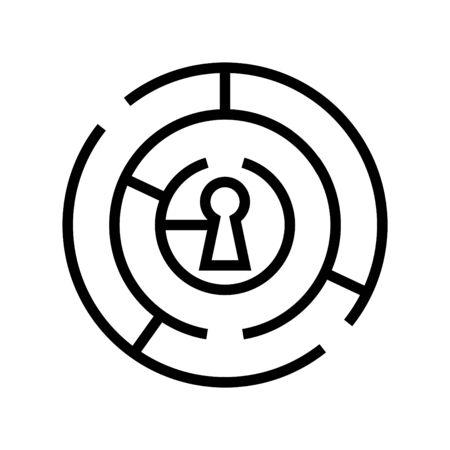 labyrinthe avec icône clé Vecteurs