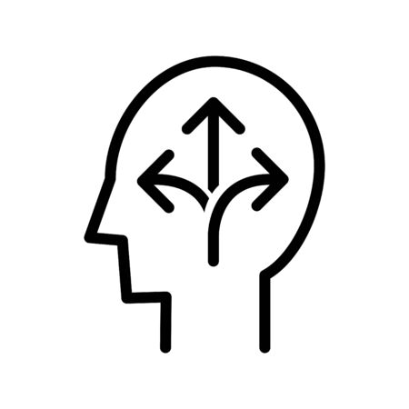 Flexiblity mind icon