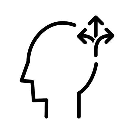 Flexiblity mind icon