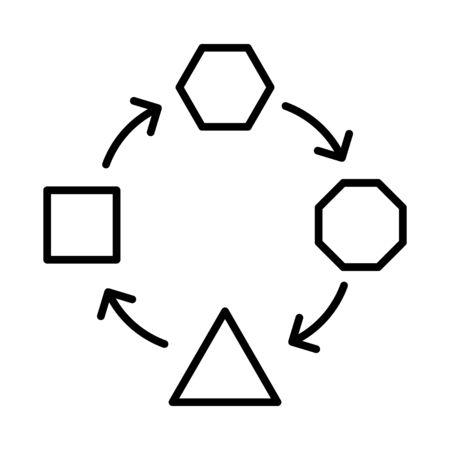 Adaptation icon, vector illustration Illustration