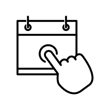 booking icon, vector illustration Illusztráció