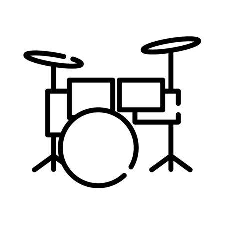 Icône de tambour, illustration vectorielle
