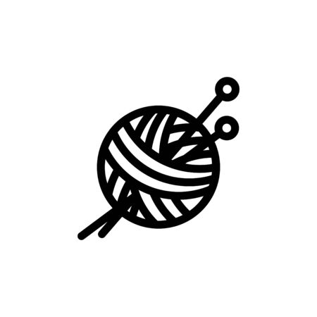 Knitting icon, vector illustration. Çizim