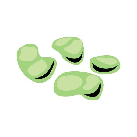 broad bean icon Banque d'images - 127672335