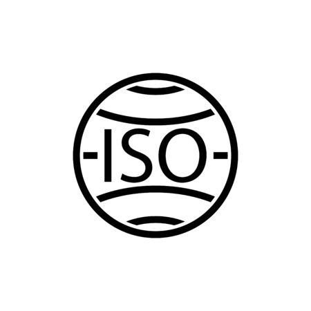 iso icon, vector illustration Illustration
