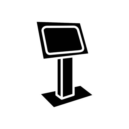 Kiosk icon, vector illustration