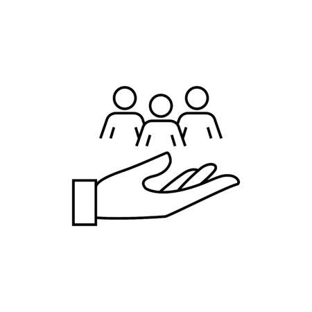 icône de responsabilité au travail