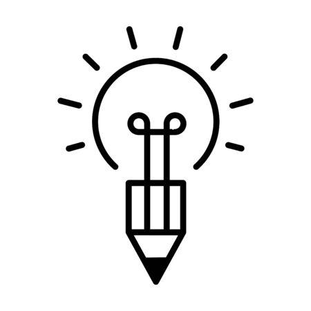 Creative bulb Icon, vector illustration