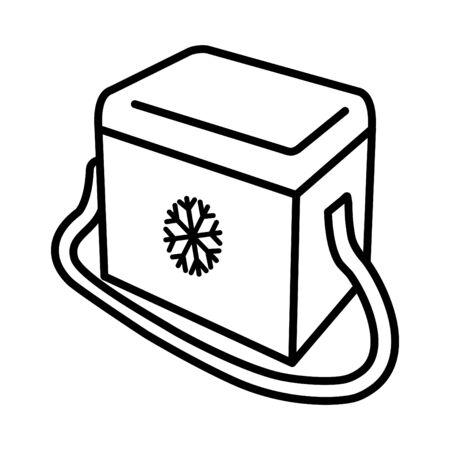Icône de réfrigérateur portable Vecteurs