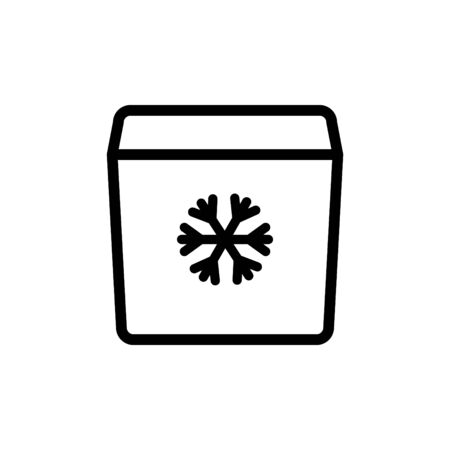 Portable fridge icon
